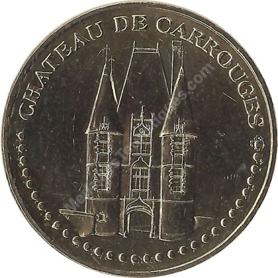 CARROUGES - Château de Carrouges 2 (face simple) / MONNAIE DE PARIS 2007